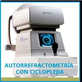 Autorrefractometría con Cicloplejia